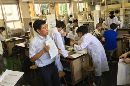 授業見学(化学実験)