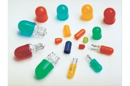 【写真1】小型電球用カラーキャップASA COLOR